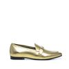 Goldene Metallic-Loafer