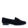 Schwarze Samt-Loafers