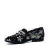 Sacha x Fashionchick schwarze Loafer mit Blumenmuster