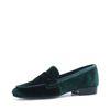 Groene velvet loafers