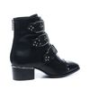 Zwarte buckle boots met studs