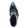 Schwarze Cowboy Boots mit Nieten