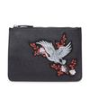 Zwarte kleine tas met embroidery