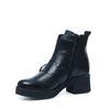 Zwarte korte laarzen met gespen