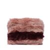 Fluffy clutch roze