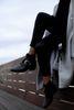 Zwarte western buckle boots met rits