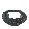 Haarband panterprint groen
