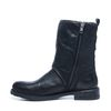 Zwarte korte laarzen met imitatiebont