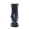 Zwarte korte laarzen met sierrits en gespen