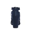 Donkerblauwe opengewerkte pumps met peeptoe