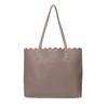 Nude handtas met binnentas