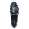 Zwarte loafers met franjes en studs