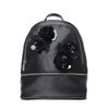 Zwarte rugzak met bloempailleten