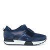 Donkerblauwe leren lage sneakers