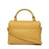 Gele schoudertas met gouden details