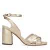 Gouden metallic sandalen met hak