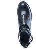 Zwarte cut out boots met gesp en rits