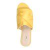 Gele satijnen slippers met knoop