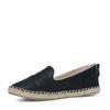Espadrille loafers zwart