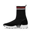 Zwarte hoge sok sneakers