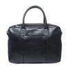 Zwarte leren handtas met laptopvak