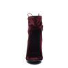 Bordeaux rode enkellaarsjes met hak