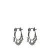 Zilverkleurige oorbellen met details