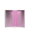 Paspoorthoes roze metallic met wimpers