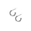 LUZ nautic earhoops zilver