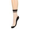 Transparante sokken met zwarte strepen