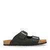 Zwarte leren slippers
