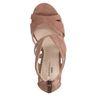 Nude sandalen met hak