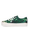 Plateau sneakers met tropische print