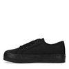 Zwarte sneakers met plateauzool