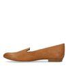 Cognac loafers met snakeskin