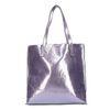 Metallic paarse shopper