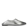 Metallic zilveren loafers