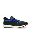 Zwarte sneakers met blauw detail