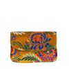 Gele bloemenprint portemonnee