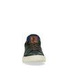 Donkergroene sneakers met blauw detail