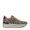 Platform sneakers luipaard print