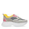 Graue Dad-Sneaker aus Veloursleder