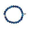 REHAB Agate Natural donkerblauwe armband