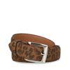 Bruine riem met luipaard print