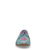 Blauwe veterschoenen met bloemenprint