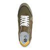 Donkergroene sneakers met detail