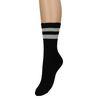 Zwarte sokken met glitter strepen