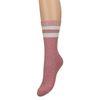 Roze sokken met glitter strepen