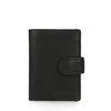 Zwarte portemonnee met cardprotector