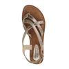 Zilveren sandalen met gekruiste banden